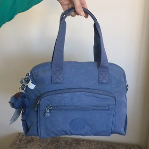 Kipling Grey Blue Tracy Bag